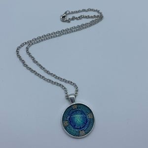 Jewelry - New Celtic Eye of the word blue cabochon necklace